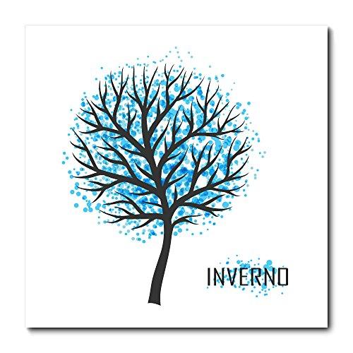 Placa Decorativa - Árvore - Inverno - 1559plmk