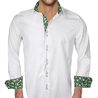 mens white st patricks day dress shirt made in the usa