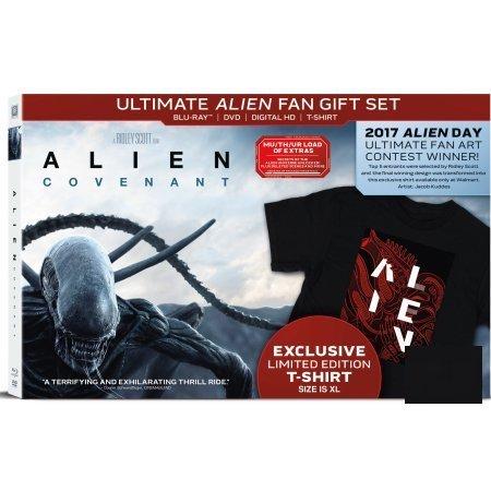 Alien: Covenant (Ultimate Alien Fan Gift Set) (Blu-ray + DVD + Digital HD + T-Shirt) (Limited Edition) (Alien Covenant Ultimate Alien Fan Gift Set)
