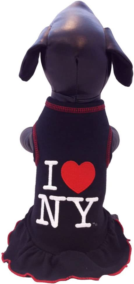 XX-Large I Love New York Cheerleader Dog Dress