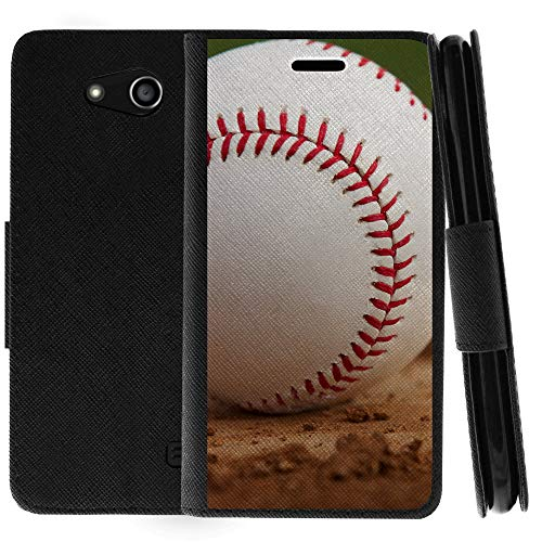 TurtleArmor | Compatible for ZTE Speed | N9130 | Flip Kickstand Wallet Case Cover with Card Slots Sports and Games Design - Baseball Dirt by TurtleArmor