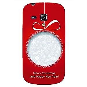 Merry Christmas Design Phone Case for Samsung Galaxy S3 Mini Cute Black Plastic Cover