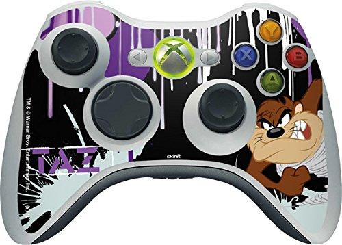 (Looney Tunes Xbox 360 Wireless Controller Skin - Splatter Paint Tasmanian Devil Vinyl Decal Skin For Your Xbox 360 Wireless Controller)
