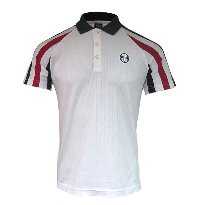 35cae88e9 Sergio Tacchini Mens Blow Vintage Tennis Polo Shirt White at Amazon Men's  Clothing store: