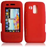 Warrior Wireless (TM) For Samsung Rogue U960 Silicone Skin Cover Case - Red + Bundle = (ITEM + CELLPHONE STAND) - By TheTargetBuys