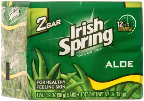 Colgate Palmolive Irish Spring Bar Soap with Aloe, 6 4 Ounce