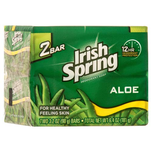 - Colgate Palmolive Irish Spring Bar Soap with Aloe, 6.4 Ounce - 36 per case.