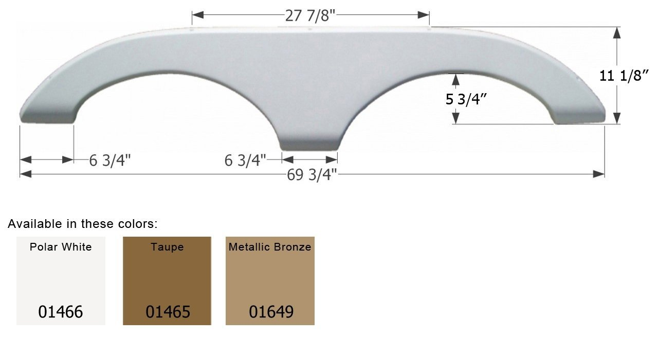ICON 01649 Tandem Axle Fender Skirt for Keystone-Metallic Bronze