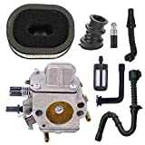NIMTEK Carburetor with Air Filter + Fuel/oil Line Filter + Impulse Line + Intake Manifold Boot for Fits Stihl Chainsaw 044 046 MS440 MS460 MS 440 460 Engines