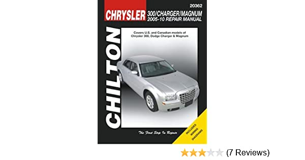 amazon com automotive repair manual for chrysler 300 dodge charger rh amazon com 07 Chrysler 300 C 07 Chrysler 300 C