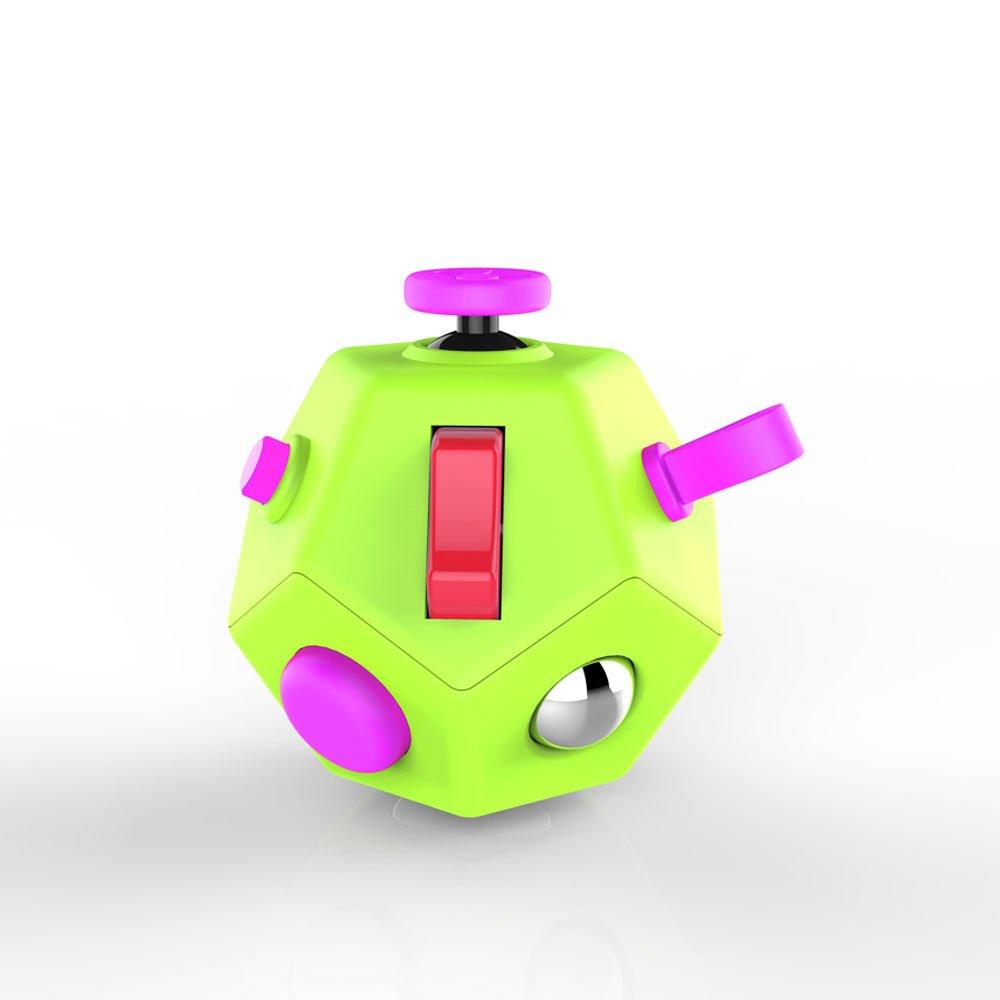 フィジェットドデカゴン -12面手揉み玩具トイキューブがストレス不安を解放 抗うつキューブ ADHD(注意欠陥多動障害) ADD(多動症) OCD(強迫性障害) 自閉症のある幼児成人用 (英語版) B075YWQBMR E3 Small Green E3 Small Green