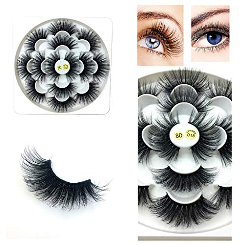 Ktyssp Luxury 7Paire 8D False Lashes Fluffy Strip Eyelashes Long Natural Party Makeup Lashes ()