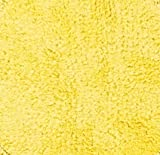 """DII Ultra Soft Spa Cotton Crochet Round Bath Mat or Rug Place in Front of Shower, Vanity, Bath Tub, Sink, and Toilet, 28"""" - Yellow"""
