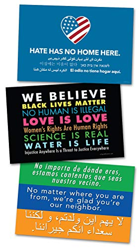 - 3 Pack of Posters/Protest Signs - 2 Sided - Display Your Support for Love & Diversity W/a Poster Sign & Get 2 Free, We Believe - Hate Has No Home Here - Welcome Your Neighbors, by Signs of Justice