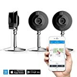 mySight by iLuv (Wi-Fi Cloud-Based HD Video Camera for Home & Business Monitoring with Motion/Noise Detection & Night Vision) Watch from Apple iPhone, Samsung GALAXY and other SmartDevices (3 Pack)