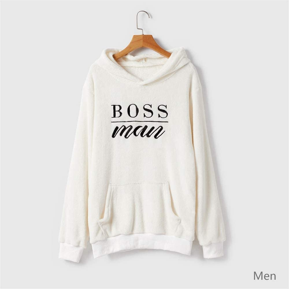 Family Matching Hoodies Sweatshirts Fleece Hooded Sweater Mini Boss Casual Mommy and Me Outfits Clothes