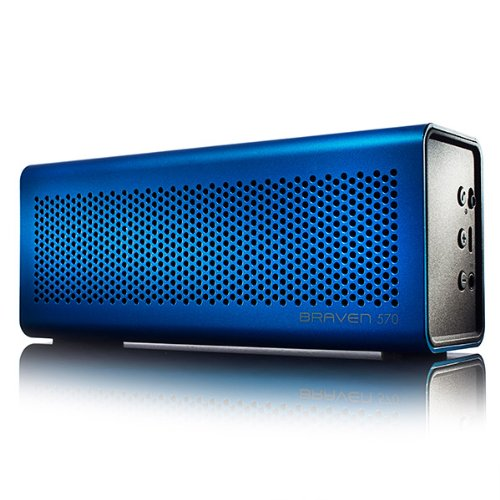 BRAVEN 570 Portable Wireless Bluetooth Speaker [10 Hour Playtime][Waterproof] Built-In 1400 mAh Power Bank Charger - Blue by Braven (Image #5)