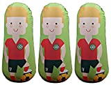 Bonk Fit High Performance Polyurethane Inflatable Target, PVC-Free Pop Up Training Mannequin with One Year Warranty and Machine Washable Cover - Soccer 3ft (3 pack)