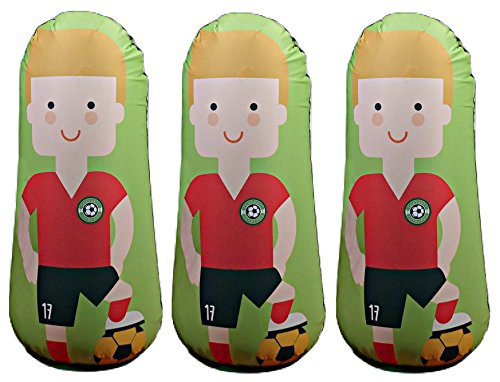 Bonk Fit High Performance Polyurethane Inflatable Target, PVC-Free Pop Up Training Mannequin with One Year Warranty and Machine Washable Cover - Soccer 3ft (3 pack) by BONK FIT