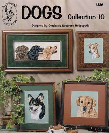 Pegasus Originals Dogs, Collection 10 Counted Cross Stitch Chart Collection ()