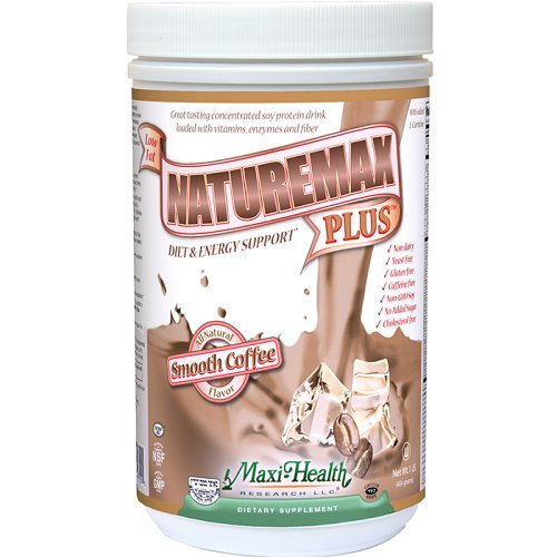 Maxi Well-being Naturemax PLUS - Soy Protein - Coffee - Diet & Energy Support - 1 lbs Powder - Kosher