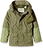 Scotch & Soda Kids Jacket with Hood and Pockets, Green, 6