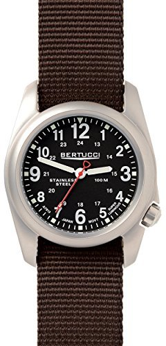 Bertucci A-2S Field Watch, Stainless Steel Casing, Black ...