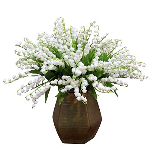 Of Lily Bouquet Valley The (Maylife 10 Pcs Lily of The Valley Artificial Flowers Wind Chime Orchid Wedding Holding Flowers Bouquet Home Garden Wedding Party Office Decoration)