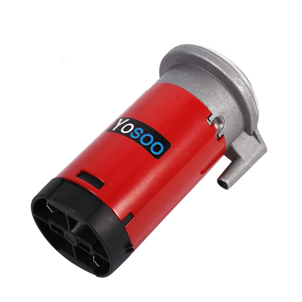 Kaxon Trumpet Horn with Compressor Air Horn Whistle 150DB 12V Zinc Chrome Single Double Trumpet for Truck Train Car Boat Motorcycle