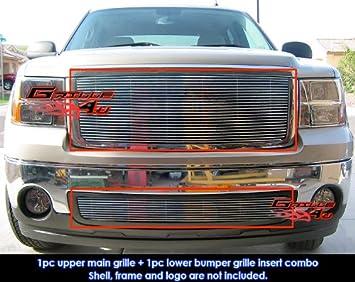 APS Fits 2007-2013 GMC Sierra 1500 New Body//07-10 Denali Billet Grille Grill Combo # G67861A
