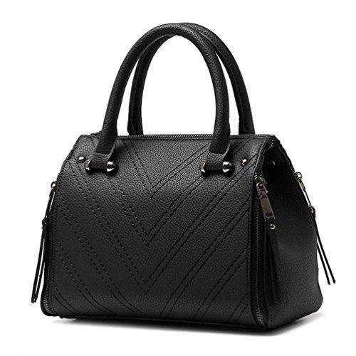 De Femme À D'oreiller Auspicious Filet Noir En Pour Couture Forme Sac Bandoulière Beginning Classique 4E8Y8q1w
