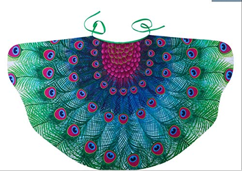 MIXZONES Kids Fairy Peacock Wings Costume for Girls-Princess Dress up-Pretend Play Party Favors]()