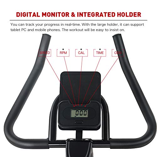 JOROTO Magnetic Resistance Exercise Bike Stationary Belt Drive Indoor Cycling Bikes Trainer Workout Cycle for Home 4