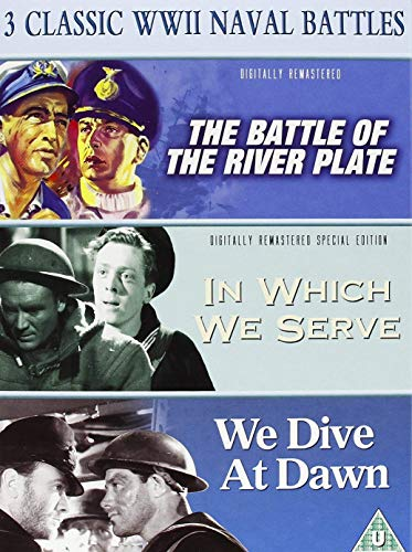 3 Classic World War 2 Naval Battles (The Battle of the River Plate / In Which we Serve / We Dive at Dawn) ()