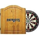 Imperial Officially Licensed NFL Merchandise: Dart Cabinet Set Steel Tip Bristle Dartboard Darts