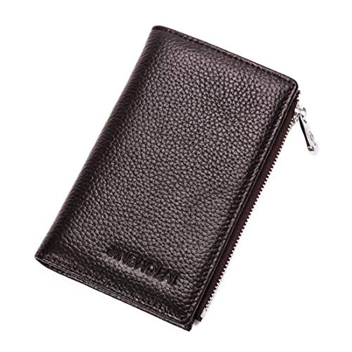 Black Business Hommes Petit Cuir Jinbaolai La Véritable card Coffee Case Pour Card Zipper De Multi Titulaire En Hemotrade Portefeuille Carte color H6zq6