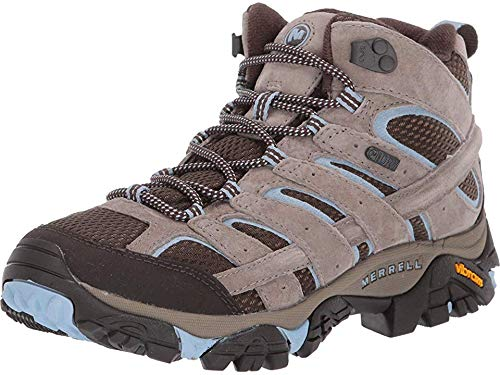 Merrell Women's Moab 2 Mid Waterproof Brindle 8 M US by Merrell