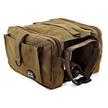 RIGG DOG Oxford Canvas Dog Saddle Bag Harness Backpack – Perfect Dog Hiking Pack for Treks, Camping and Hound Travel | Durable, Lightweight (0.9lb), Comfortable Saddlebags for Medium and Large Dogs