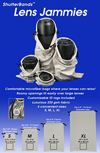 Lens Jammies Microfiber Bags for lens, flash, and other camera accessories by ShutterBands