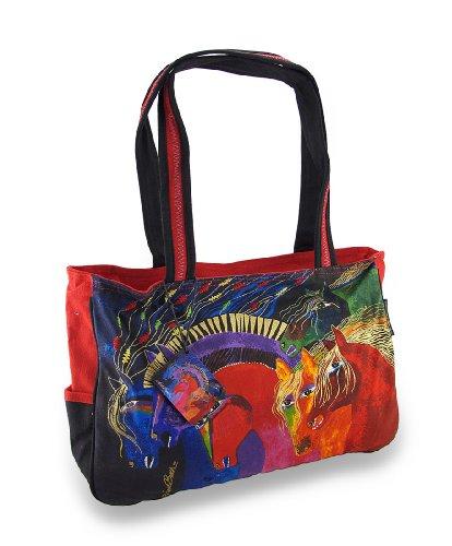 - Laurel Burch Wild Horses of Fire Medium Tote Bag