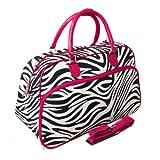 World Traveler 21-Inch Carry-On Shoulder Tote Duffel Bag, Pink Trim Zebra, One Size For Sale