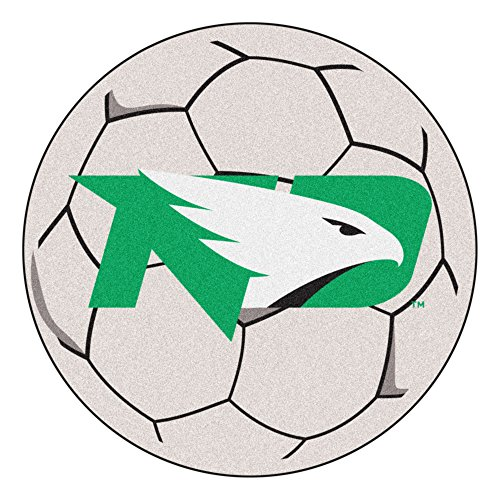 Dakota Soccer Ball Rug - NCAA University of North Dakota Fighting Hawks Soccer Ball Mat Round Area Rug
