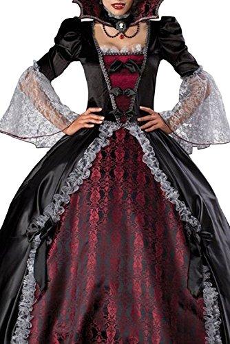 Evening Vampire Costumes (Splendid Vampire Dress Noble Long Sleeve Halloween Costume Lc8840 Women Fashion)