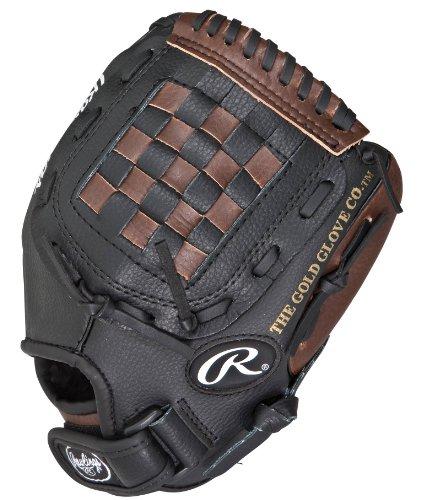 Rawlings Youth Players Series Baseball Pattern Glove (Dark Brown/Black)