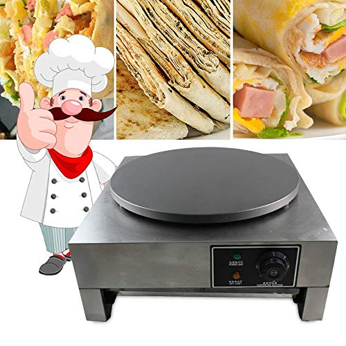 Electric Crepe Maker, 3KW Electric Pancakes Maker Griddle, 16'' Electric Nonstick Crepe Pan with Batter Spreader, Precise Temperature Control for Blintzes, Eggs, Pancakes and More by NOPTEG (Image #3)