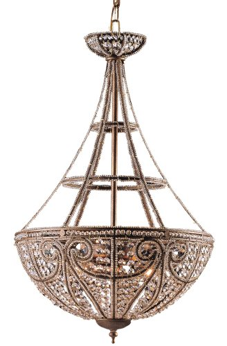 Elizabethan Collection Bronze Finish Four Light (Elizabethan Chandelier Light)