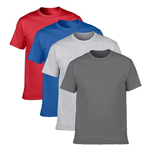 - NDB Men's Classic T-shirt Basic Short Sleeve Cotton Tee(pack of 4),Assorted 3,Large