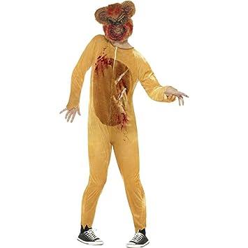 Smiffys Disfraz de Oso de Peluche Zombi, Deluxe, Marrón, con Traje Entero y