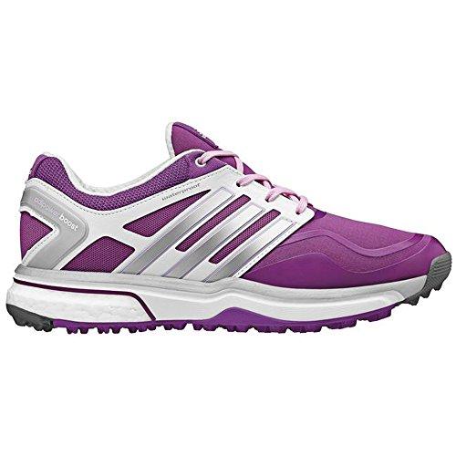 Adidas Adipower Sport Boost Golf Shoes Ladies Pink/Silver/White Medium 5.5