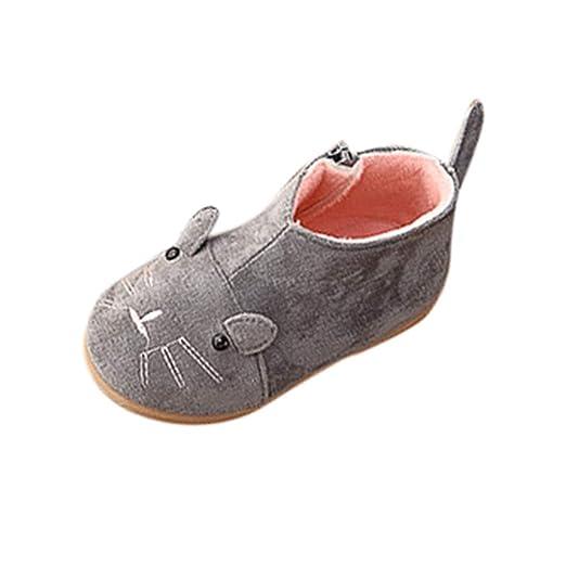6e6af3973d45e Amazon.com: Cute Infant Girls Soft Sole Flock Zipe Outdoor Casual ...